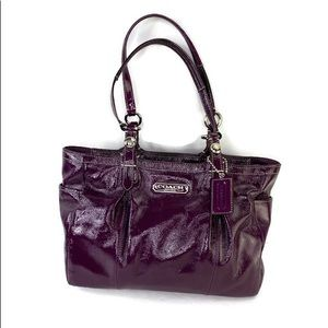 Coach Plum Patent Leather Madison Tote Bag